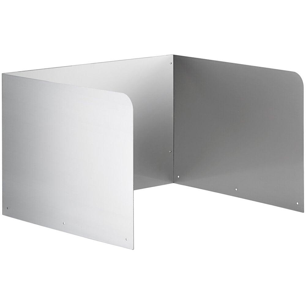 Regency 15 inch High Stainless Steel Three Sided Splash for 20 inch x 16 inch Mop Sink