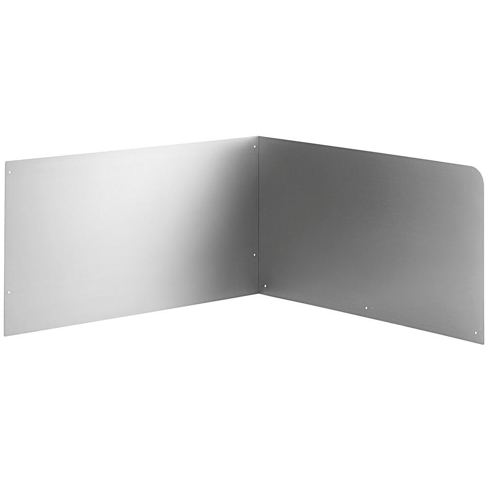 Regency 15 inch High Stainless Steel Mop Sink Backsplash and Right Side Splash for 24 x 24 inch Mop Sink