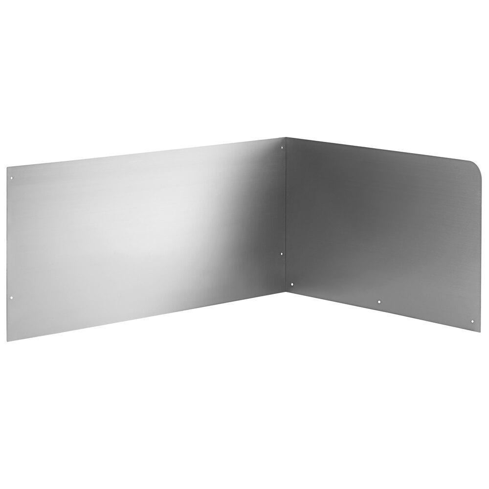 Regency 15 inch High Stainless Steel Mop Sink Backsplash and Right Side Splash for 28 inch x 20 inch Mop Sink