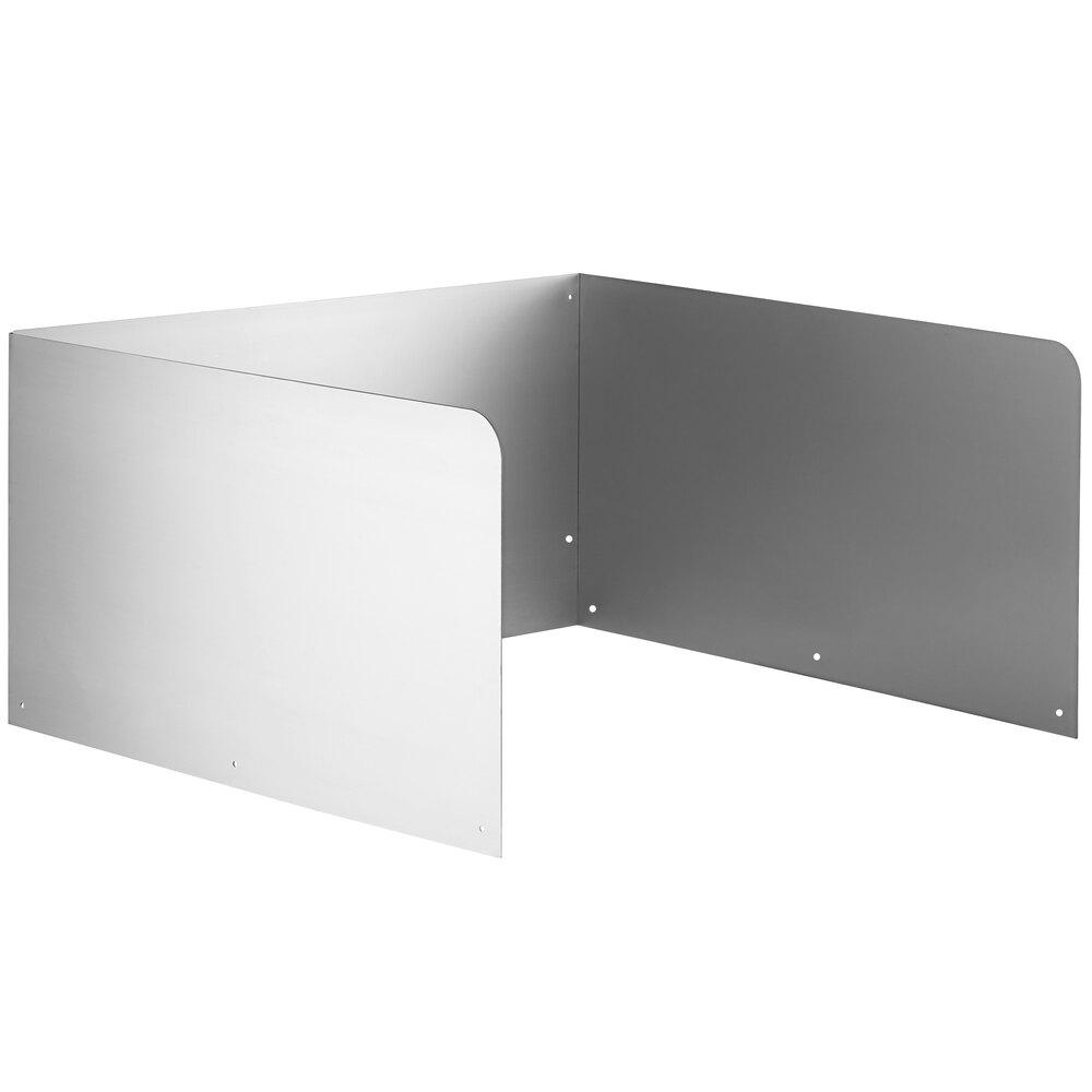 Regency 15 inch High Stainless Steel Three Sided Splash for 24 inch x 24 inch Mop Sink