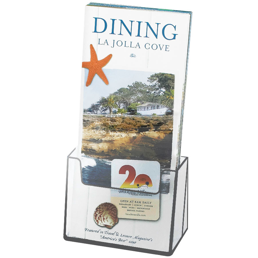"Cal-Mil 208 Brochure Holder - 4"" x 1 1/2"" x 8"""