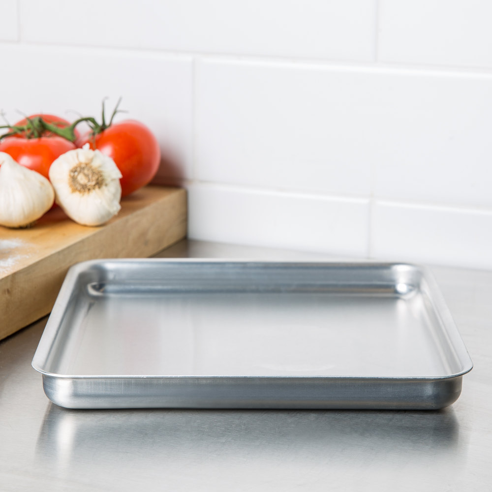 "American Metalcraft SQ1010 10"" x 10"" x 1"" Heavy Weight Aluminum Pizza Pan"