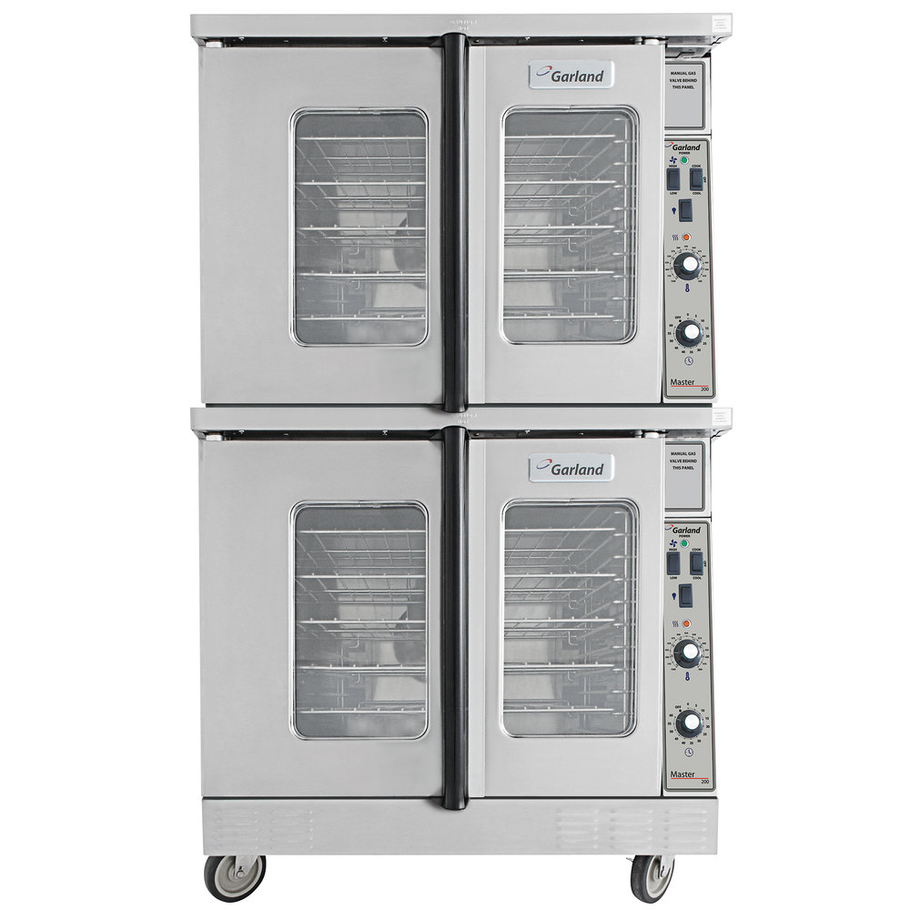 Garland MCO-GS-20-ESS Double Deck Full Size Natural Gas Convection Oven - 120,000 BTU