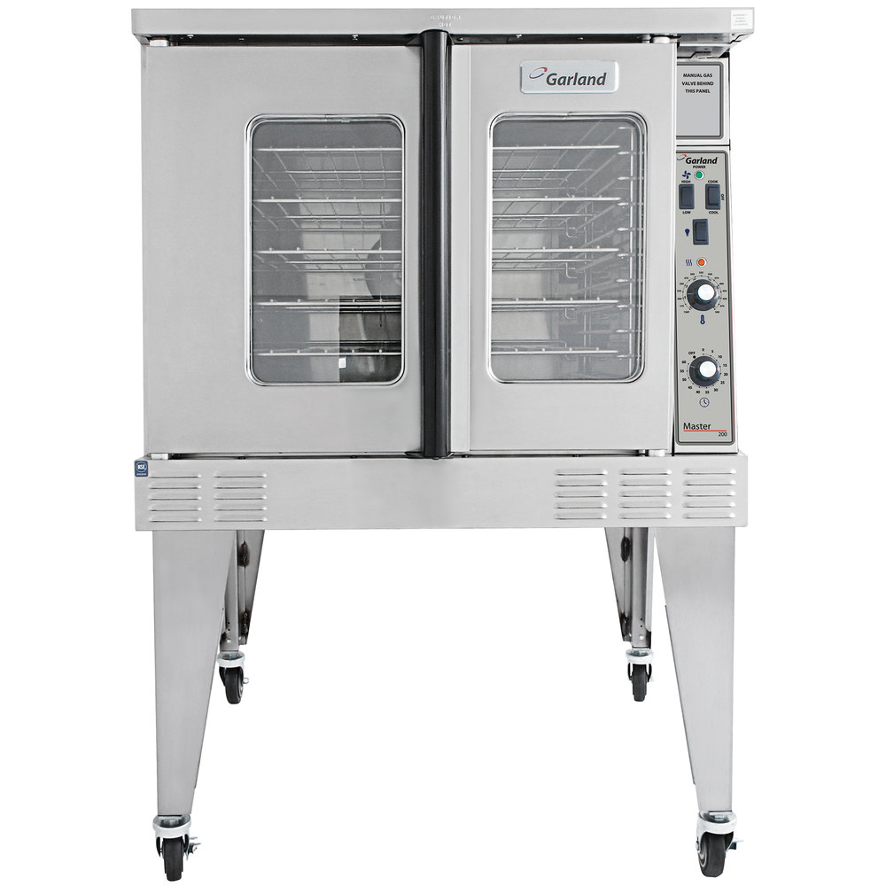 Garland MCO-GS-10-ESS Single Deck Full Size Natural Gas Convection Oven - 60,000 BTU