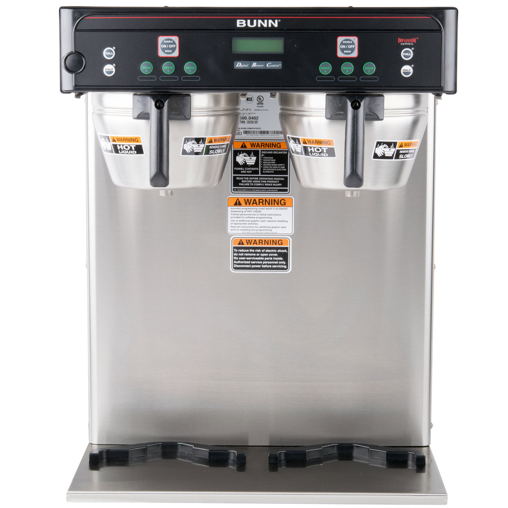 Bunn 37600.0002 BrewWISE ICB-TWIN Dual Infusion Series Stainless ...