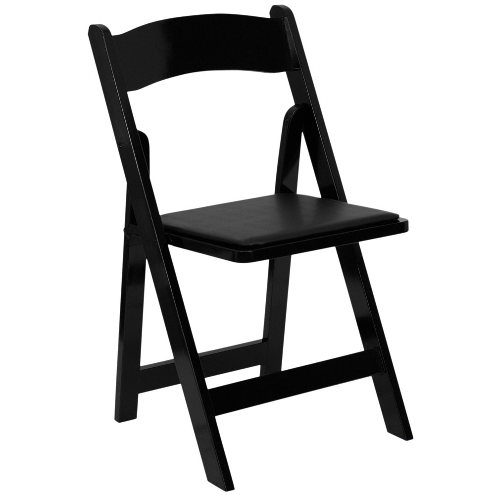 Genial Flash Furniture XF 2902 BK WOOD GG Black Wood Folding Chair With Padded Seat