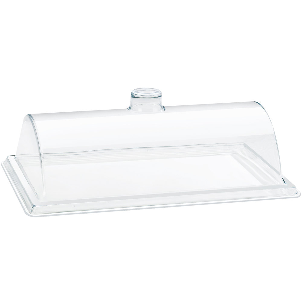 "Cal-Mil 332-12 Euro Style Clear Bakery Tray Cover - 12"" x 18"" x 6"""