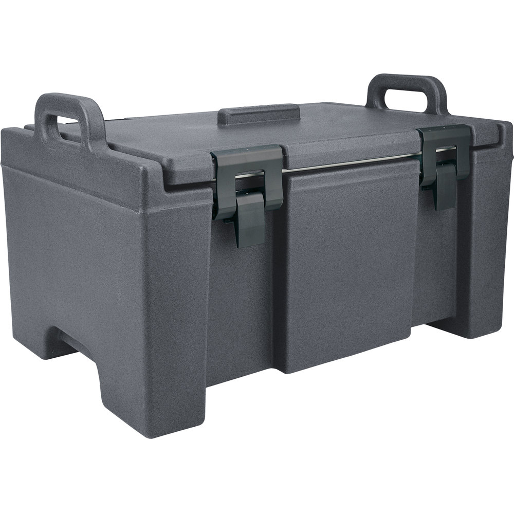 "Cambro UPC100191 Granite Gray Camcarrier Ultra Pan Carrier with Handles - Top Load for 12"" x 20"" Food Pans"