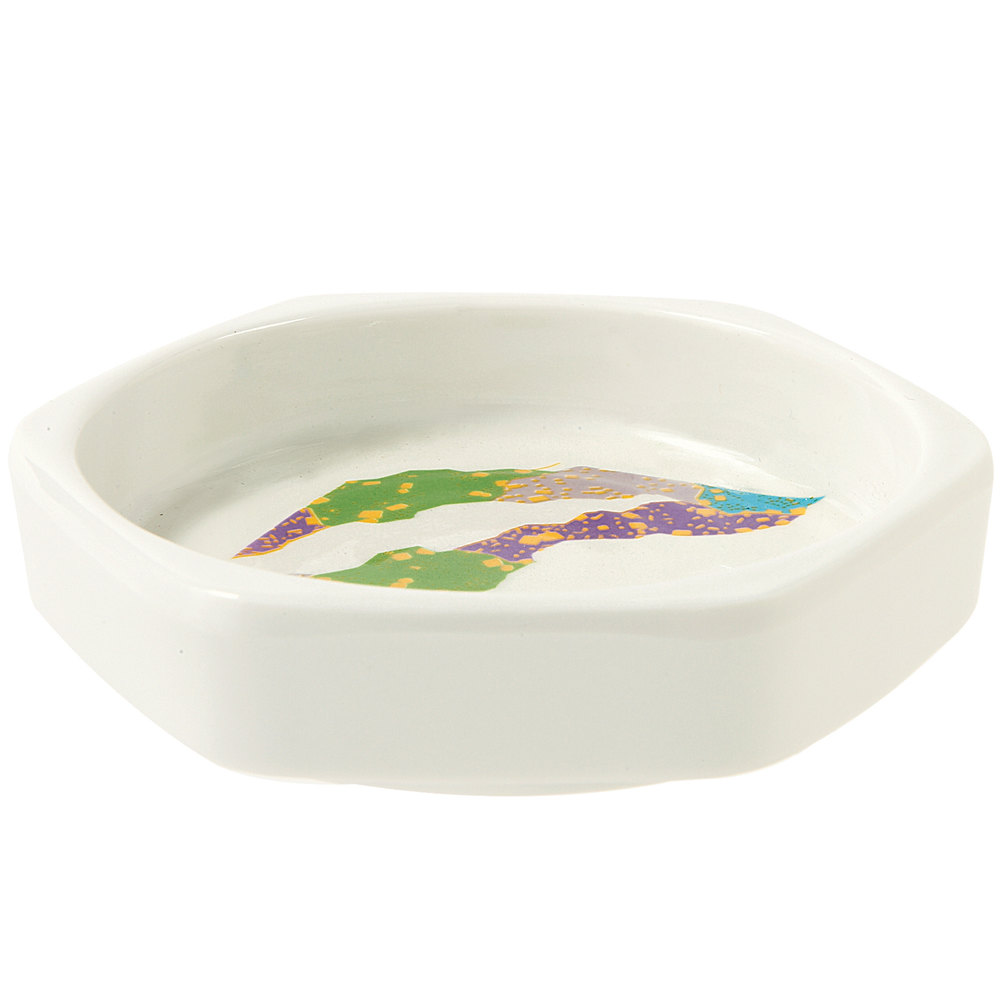 "GET 038-CO 3 oz. Contemporary Melamine 4"" Hexagon Dish - 12/Pack"