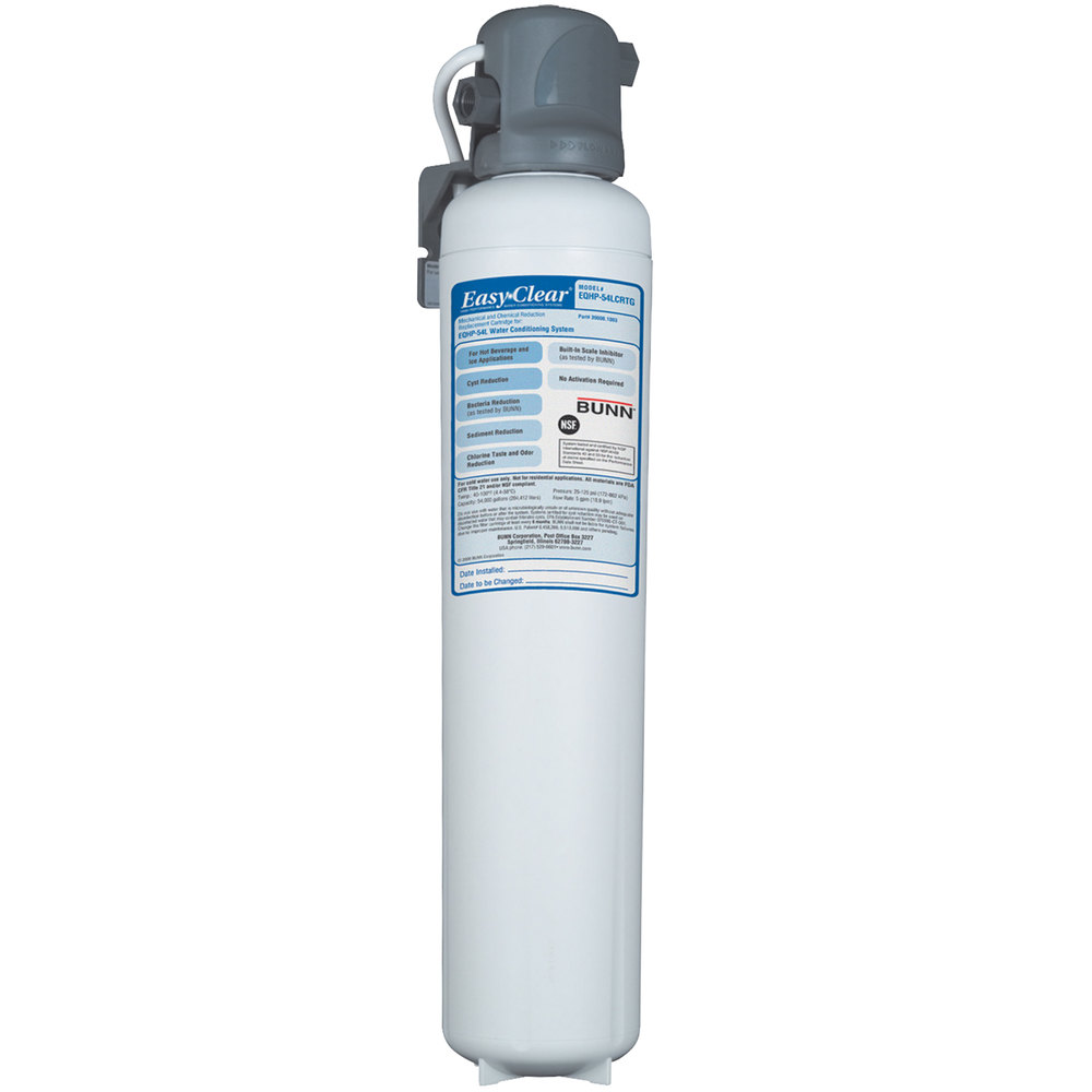 Bunn EQHP-54L Easy Clear Water Filter with Lime Scale Inhibitor - 5.0 gpm (Bunn 39000.0003)