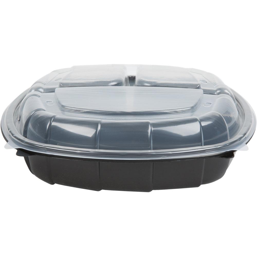 10 Quot X 10 Quot X 3 Quot Large 3 Compartment Microwaveable Plastic