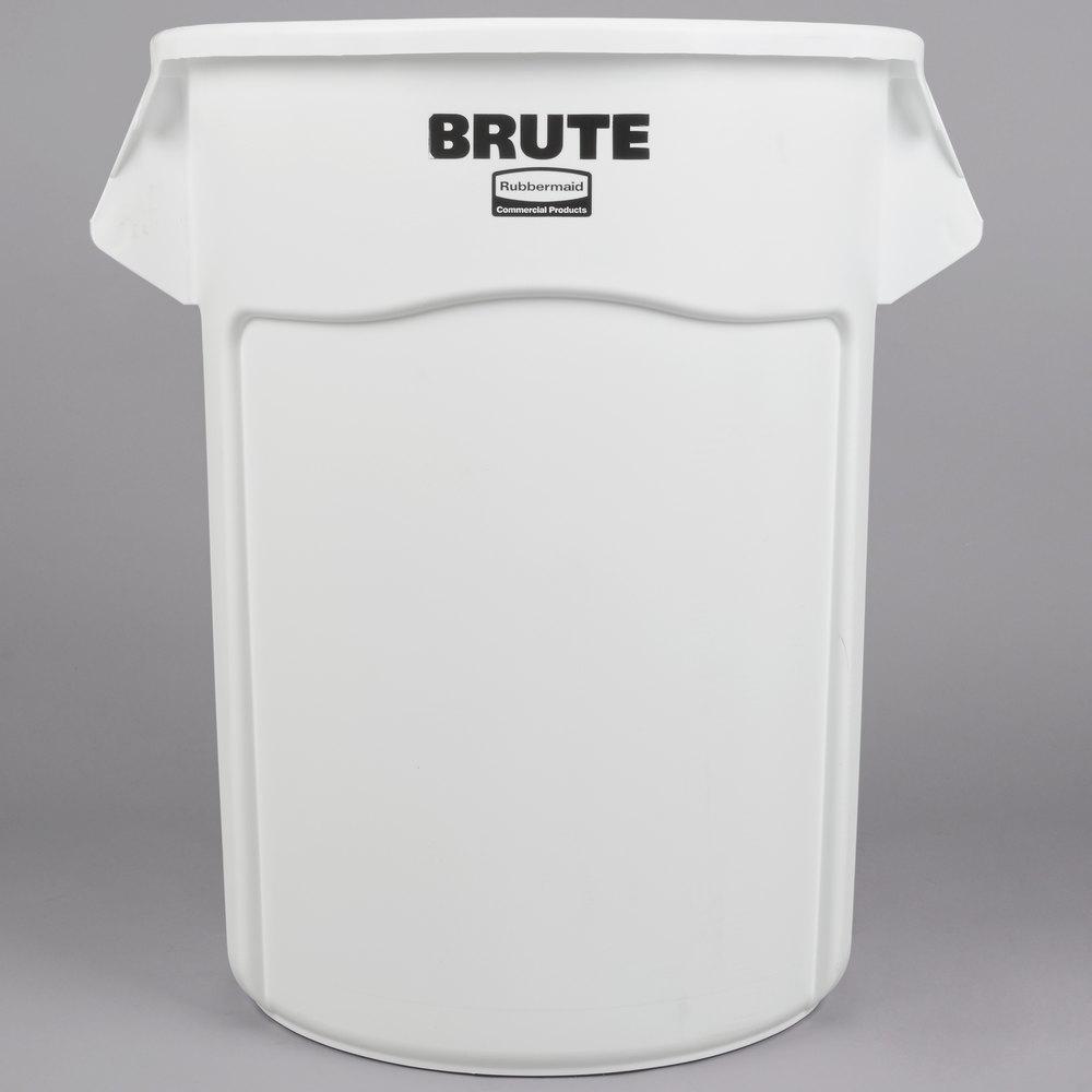rubbermaid fg265500wht brute white 55 gallon trash can main picture