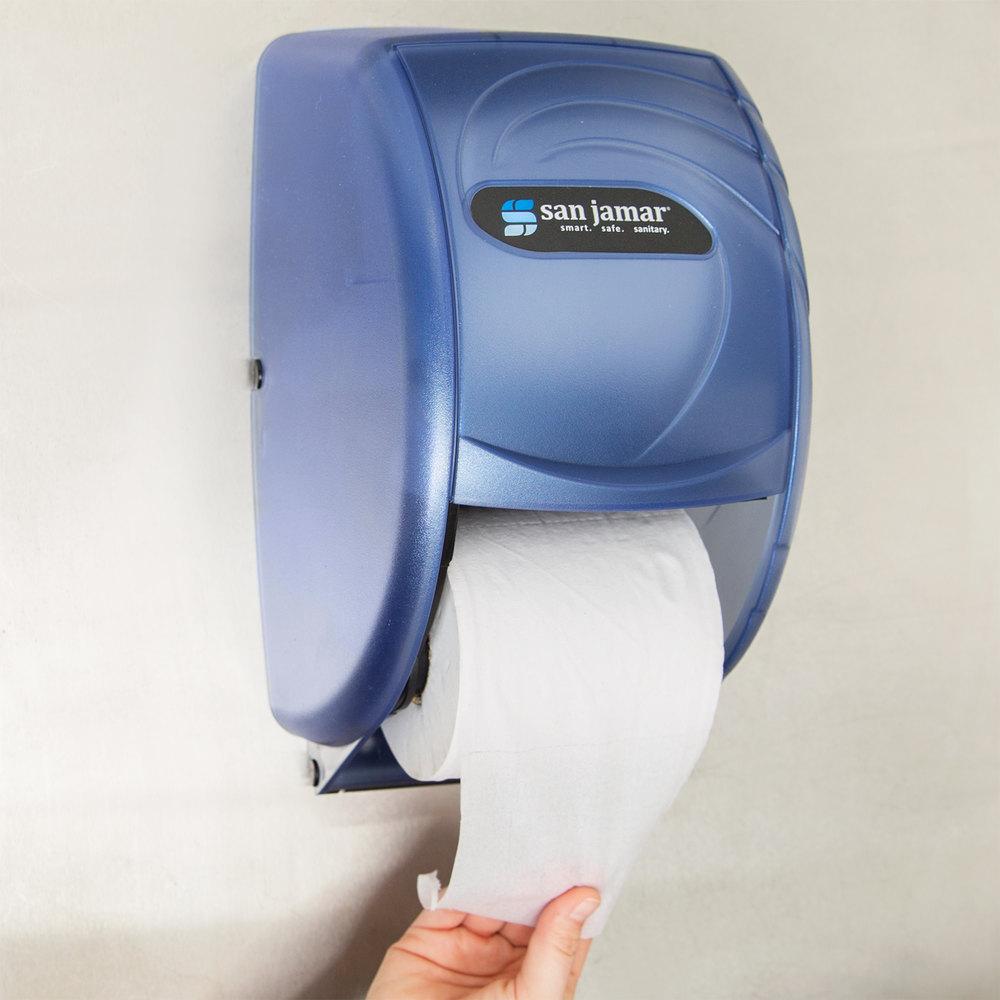 San Jamar R3590tbl Duett Oceans Toilet Tissue Dispenser