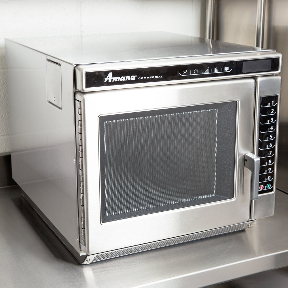 Heavy Duty Microwaves Amana Rc22s2 Heavy Duty Stainless Steel Commercial Microwave Oven