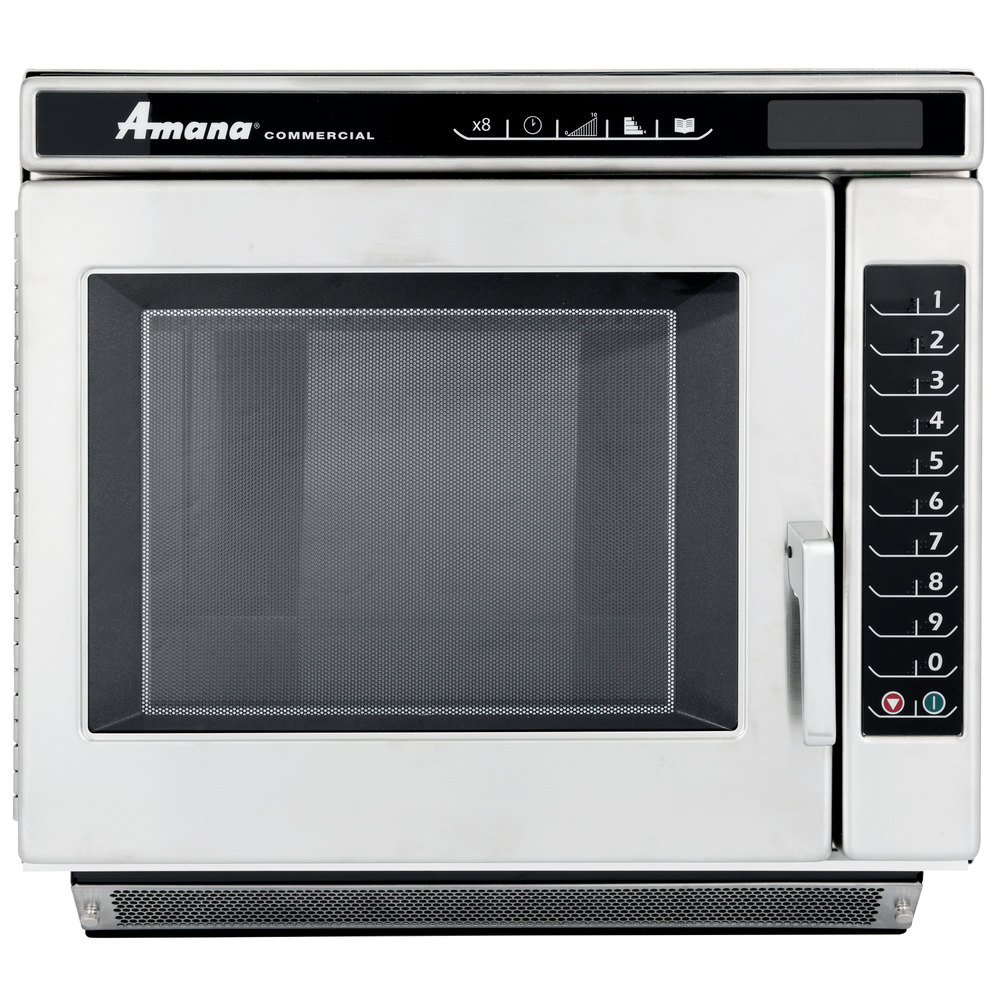 Amana Rc22s2 Heavy Duty Stainless Steel Commercial Microwave Oven With Push On Controls 208 240v 2200w