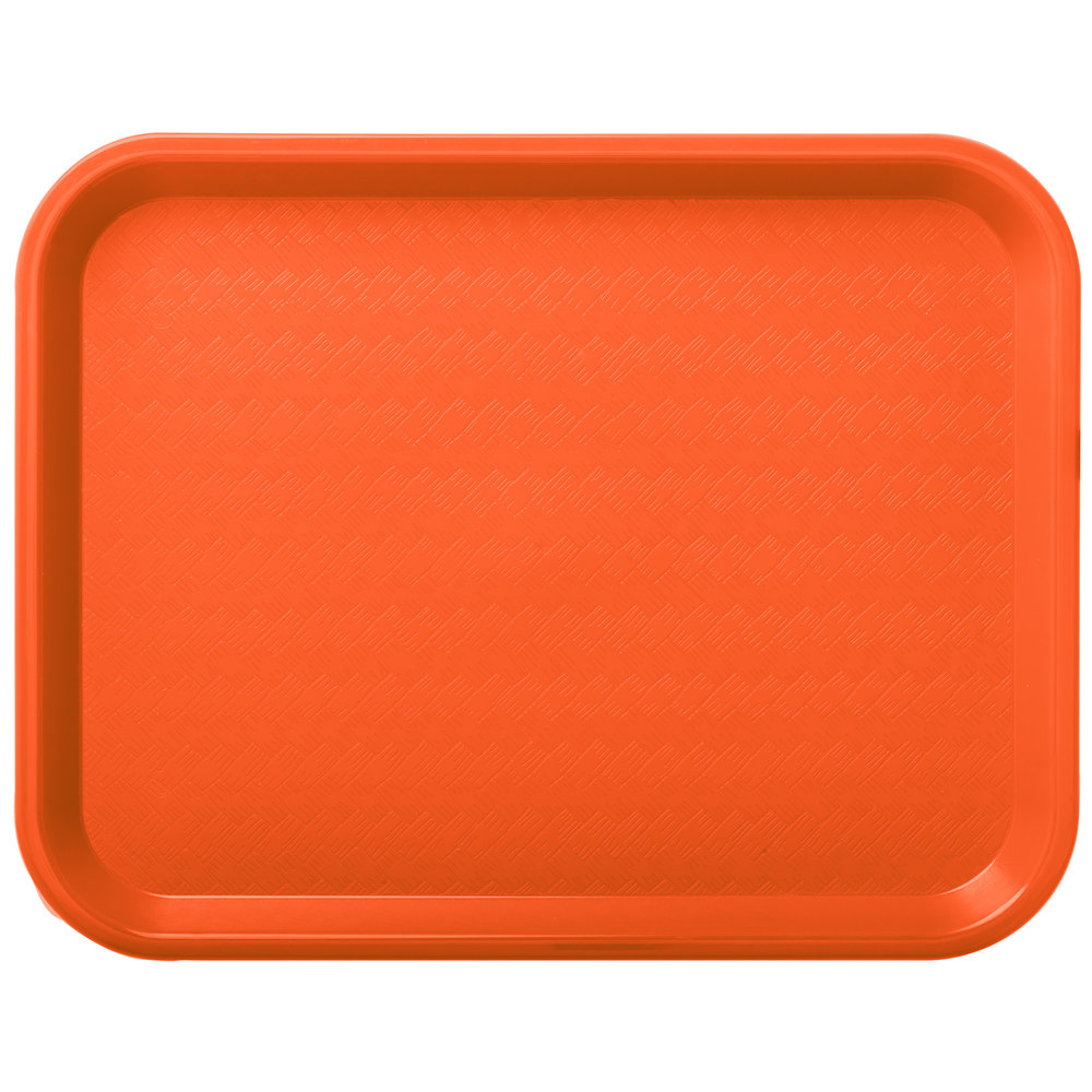 "carlisle ct101424 cafe 10"" x 14"" orange standard plastic"