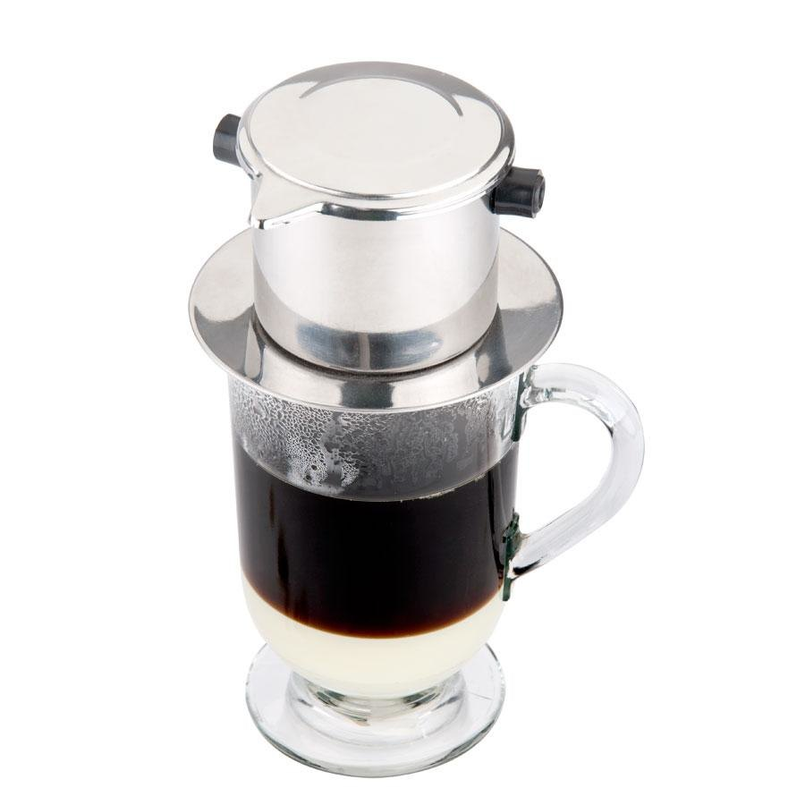 a typical vietnamese coffee filter