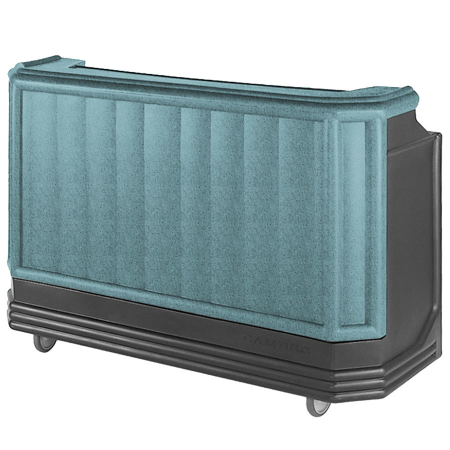"Cambro BAR730CP421 Granite Green and Black Cambar 73"" Portable Bar with 7 Bottle Speed Rail and Cold Plate"