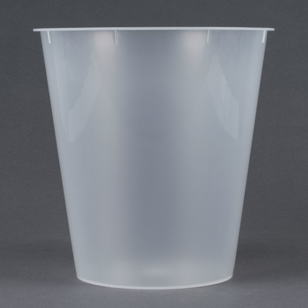 Plastic Hotel Room Wastebasket Liner for 9 Qt. Wastebaskets