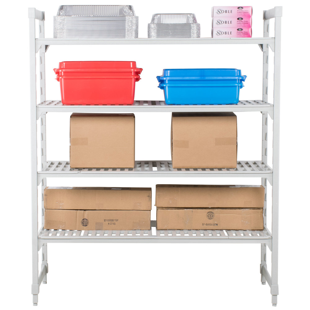 "Cambro Camshelving Premium CPU185472V4480 Shelving Unit with 4 Vented Shelves 18"" x 54"" x 72"""