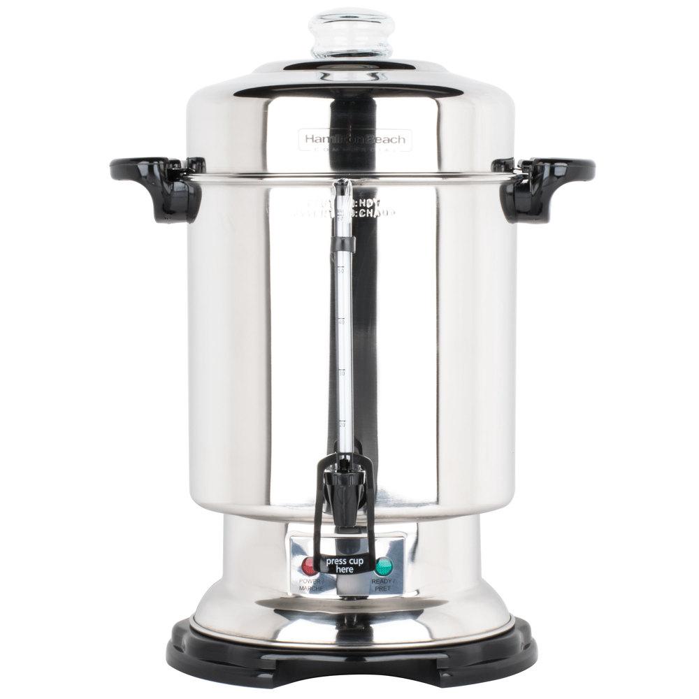 Apple Coffee Maker ~ Hamilton beach d cup gallon stainless steel
