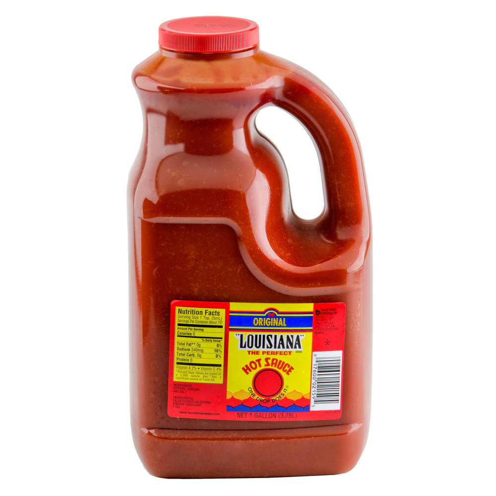 Louisiana 1 Gallon Original Hot Sauce - 4 / Case