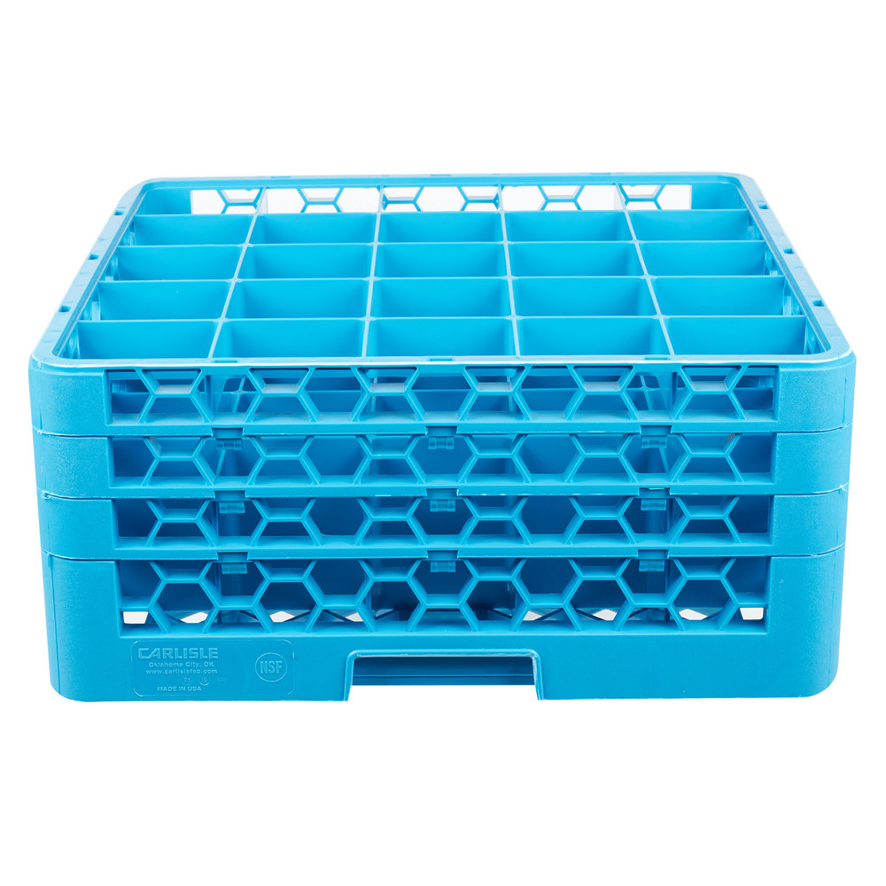 Carlisle Rg25 314 Opticlean 25 Compartment Glass Rack With