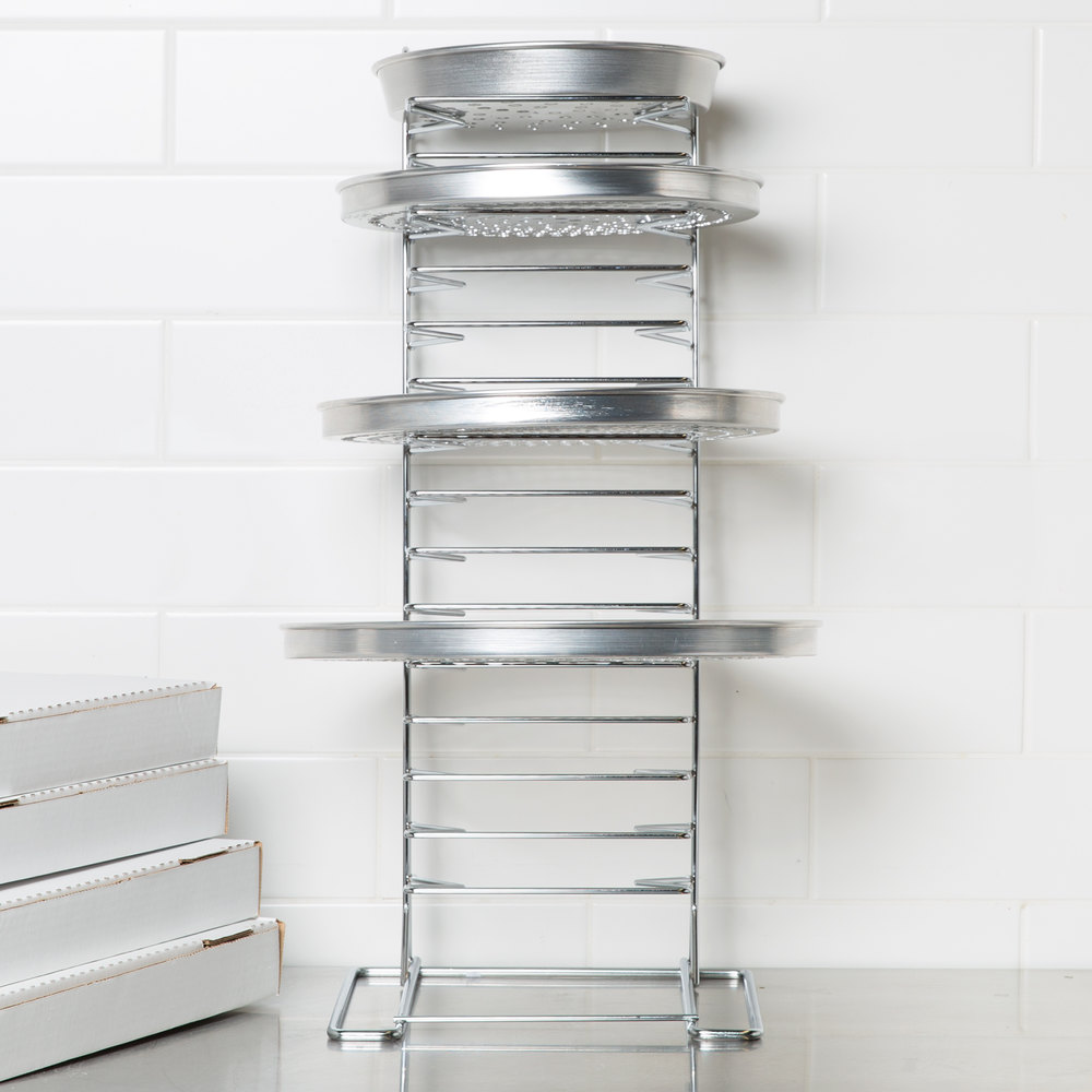 15 Shelf Pizza Pan Rack Assembled