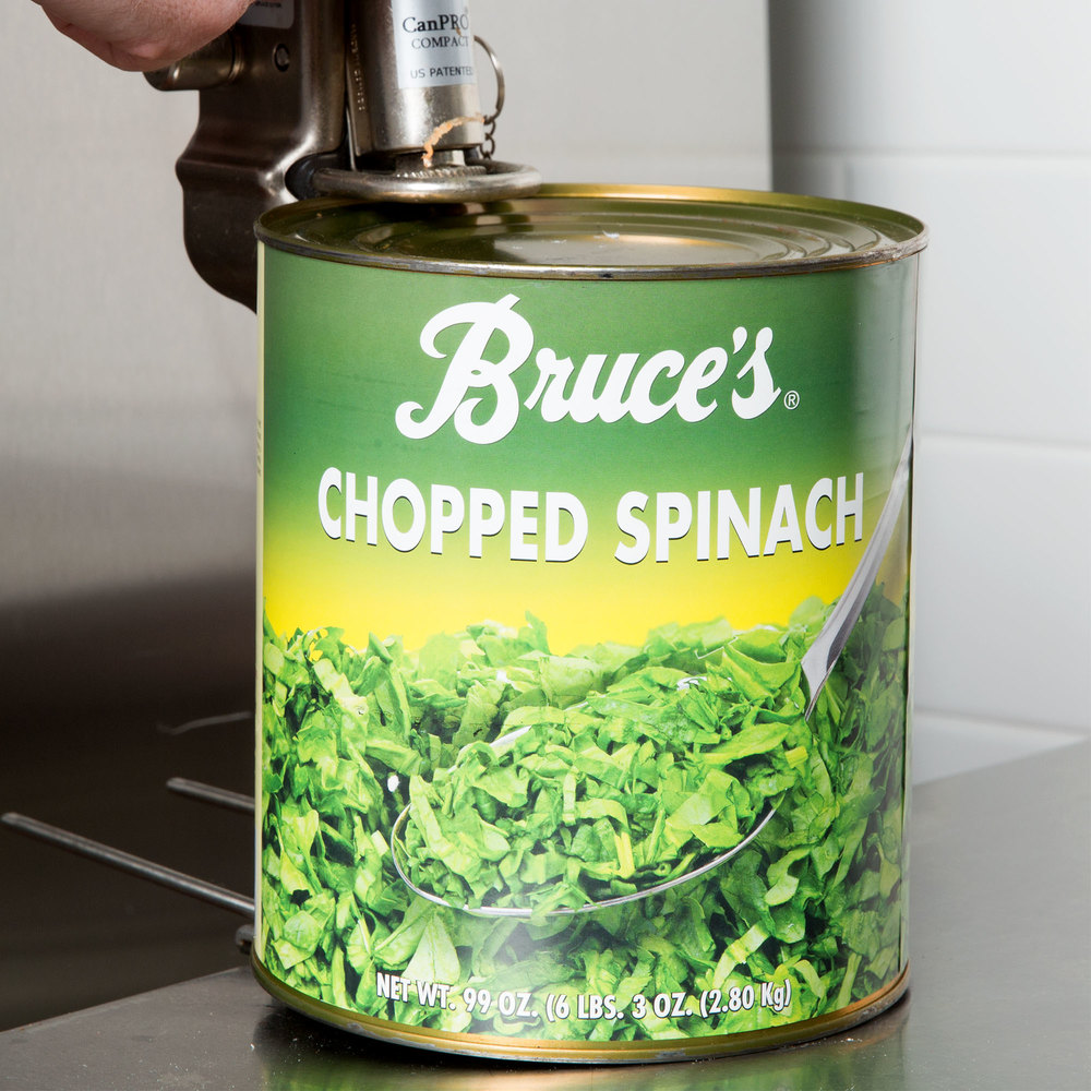 Chopped Spinach - #10 Can - 6/Case
