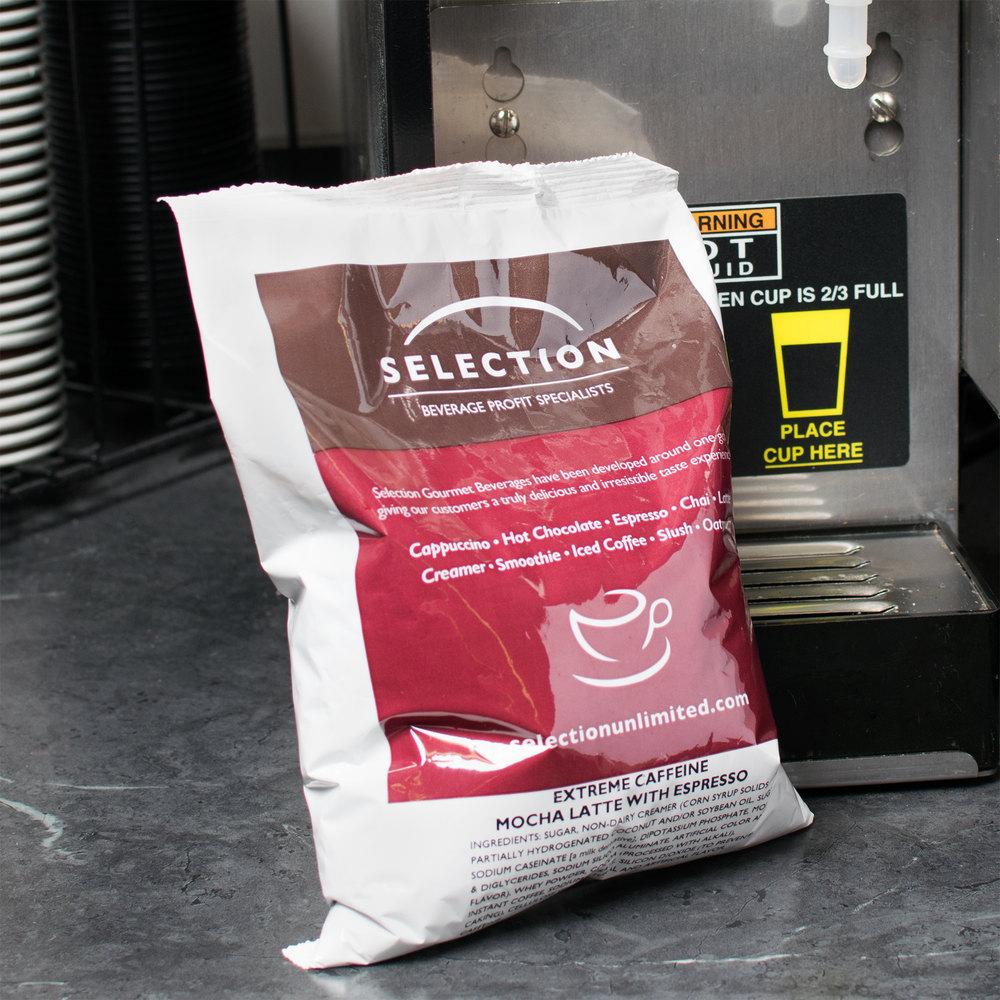 Extreme Caffeine Mocha Latte/Espresso Mix 2 lb Bags - 6/Case