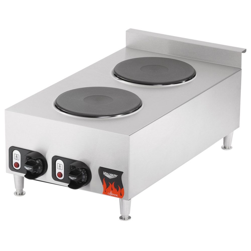 Vollrath 40739 2 Burner Counter Top Electric Hot Plate - 208/240V