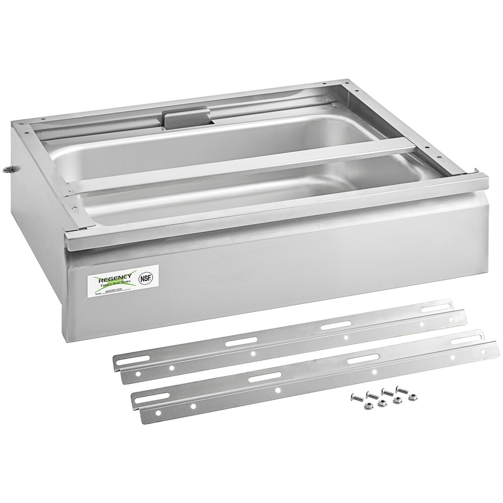 Regency 15 inch x 20 inch x 5 inch Drawer with Stainless Steel Front