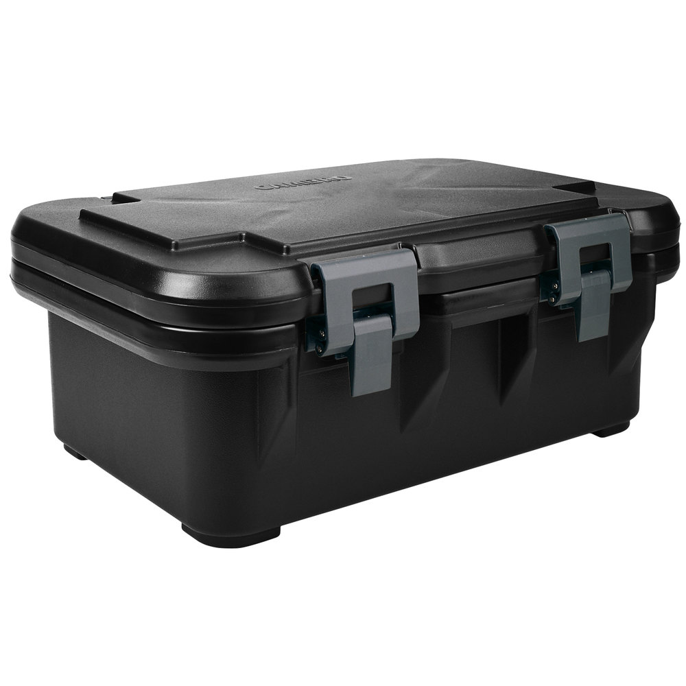 Cambro UPCS160110 Black S-Series Ultra Food Pan Carrier Insulated Top Loading