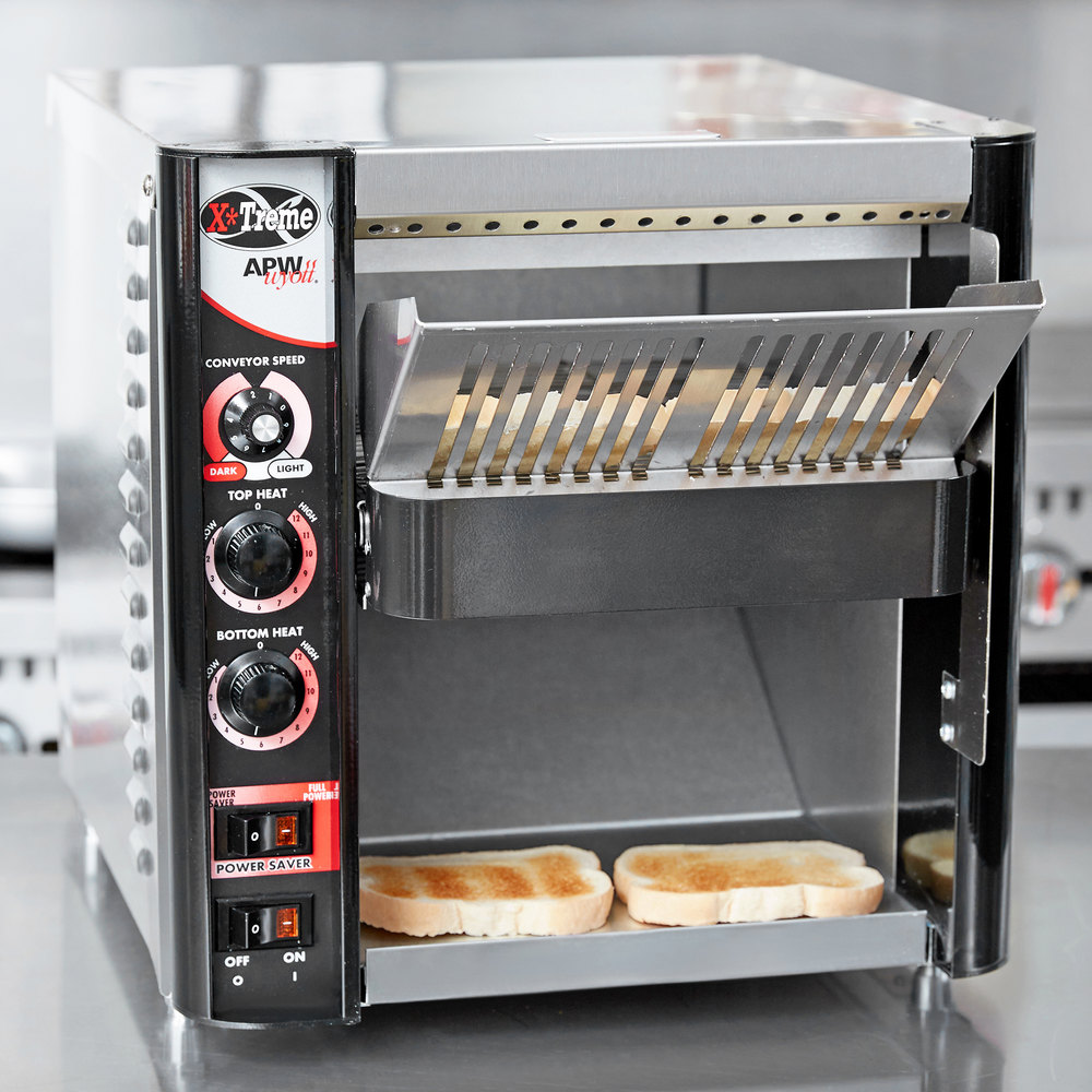 "APW Wyott XTRM-2H 10"" Wide Conveyor Toaster with 3"" Opening - 208V"