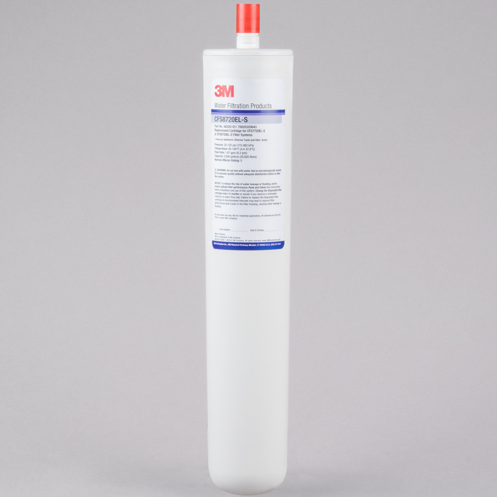 "3M Cuno CFS8720-ELS 17 1/8"" Retrofit Sediment, Chlorine Taste and Odor Reduction Cartridge with Scale Inhibition - 5 Micron and 1.67 GPM"