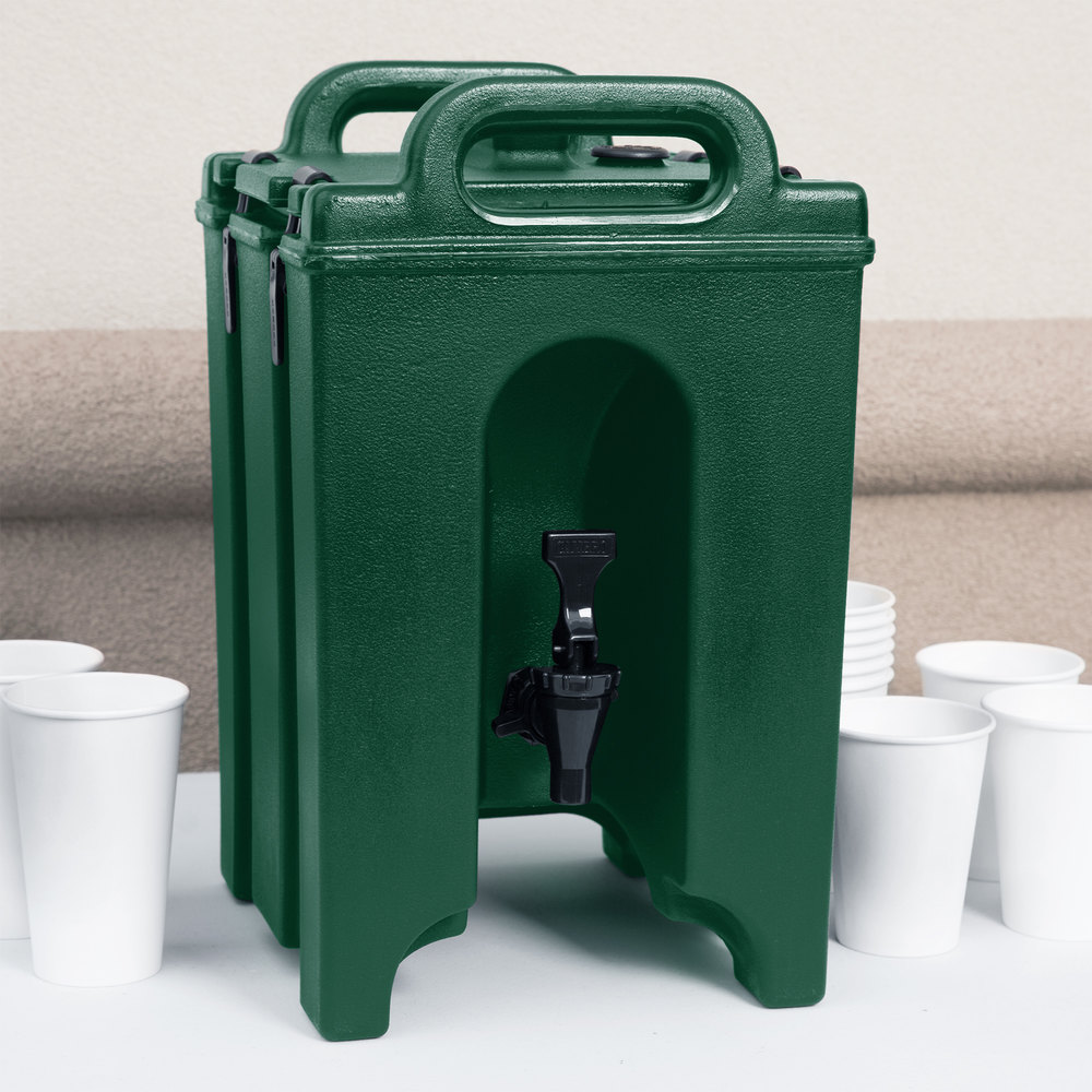 Cambro 100LCD519 Camtainer 1.5 Gallon Green Insulated Beverage Dispenser