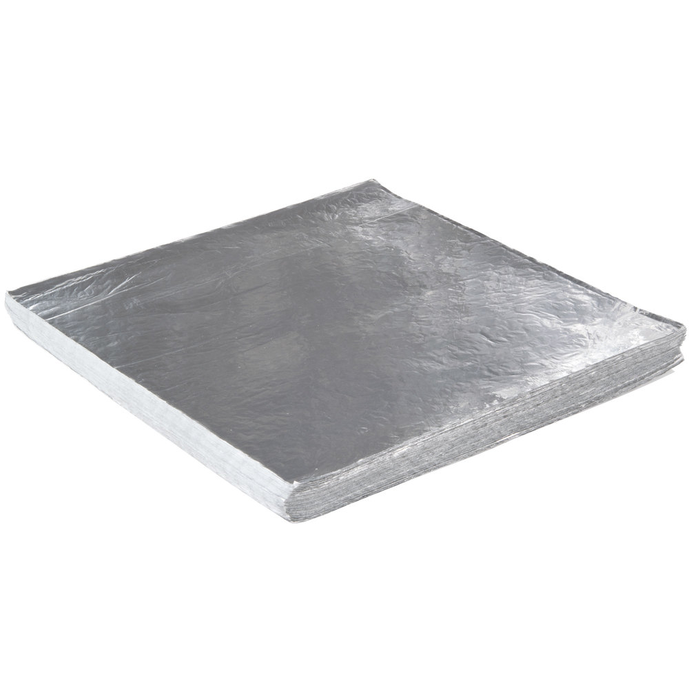 "Choice 18"" x 18"" Insulated Foil Sandwich Wrap Sheets ..."