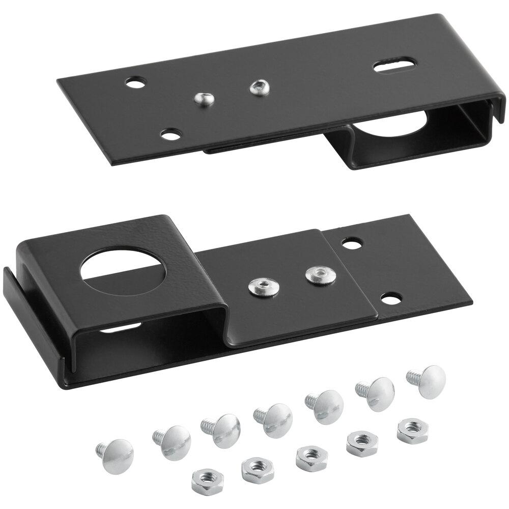 Regency Space Solutions Black Bracket Hardware Set for Wall Mount Lockers