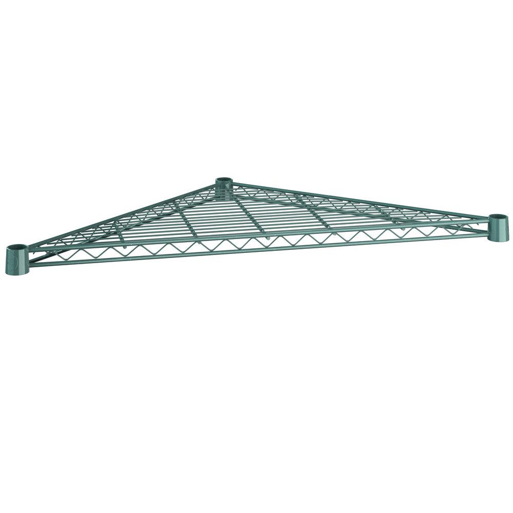 Regency 24 inch NSF Green Epoxy Triangle Shelf