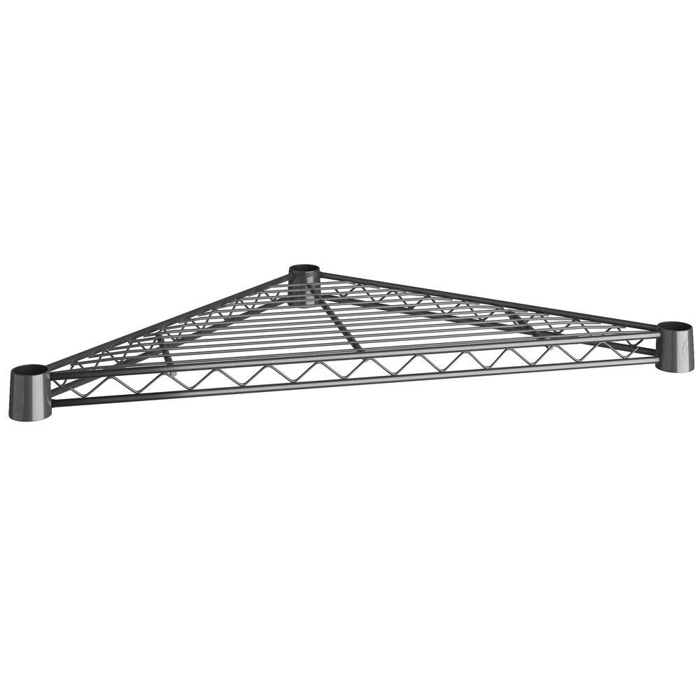 Regency 18 inch NSF Black Epoxy Triangle Shelf