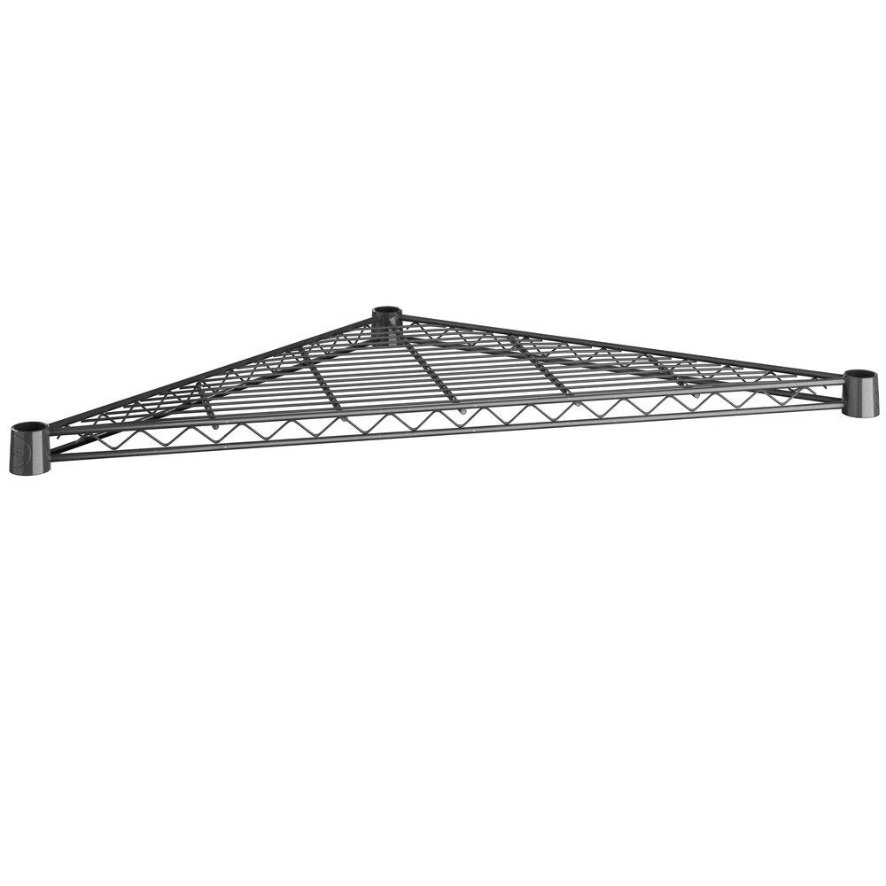 Regency 24 inch NSF Black Epoxy Triangle Shelf