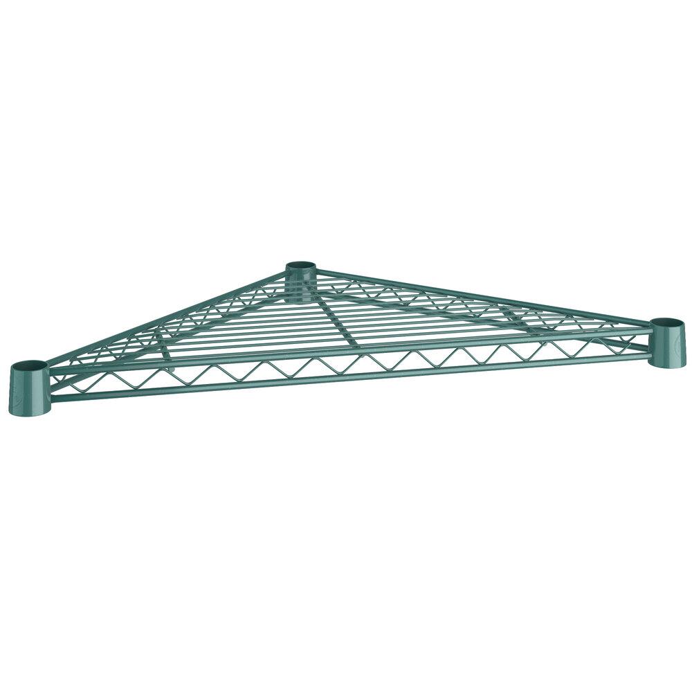 Regency 18 inch NSF Green Epoxy Triangle Shelf