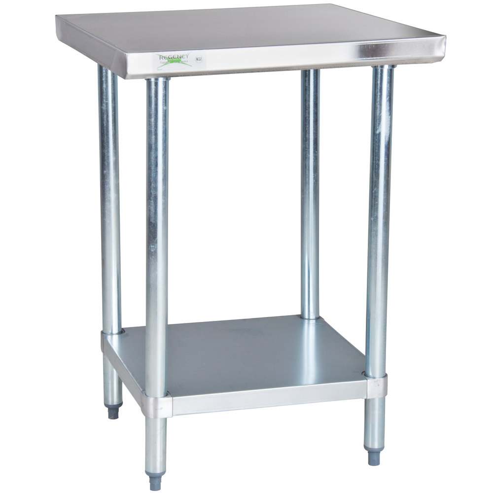 Regency 24 x 24 18 gauge 304 stainless steel commercial for Table exterieur galvanise