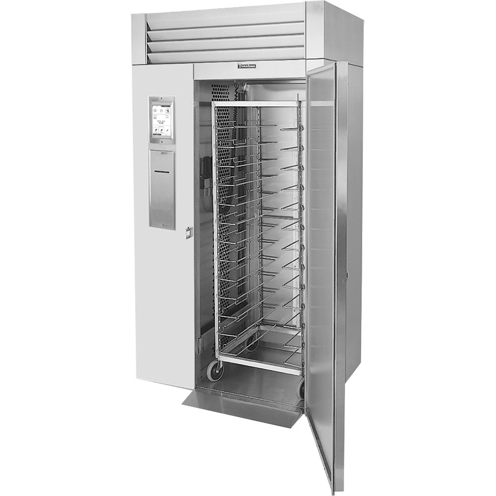 Traulsen TBC1H-33 Spec Line Single Rack Remote Cooled Roll-In Blast Chiller with Combi Oven Compatibility Kit - Right Hinged Door