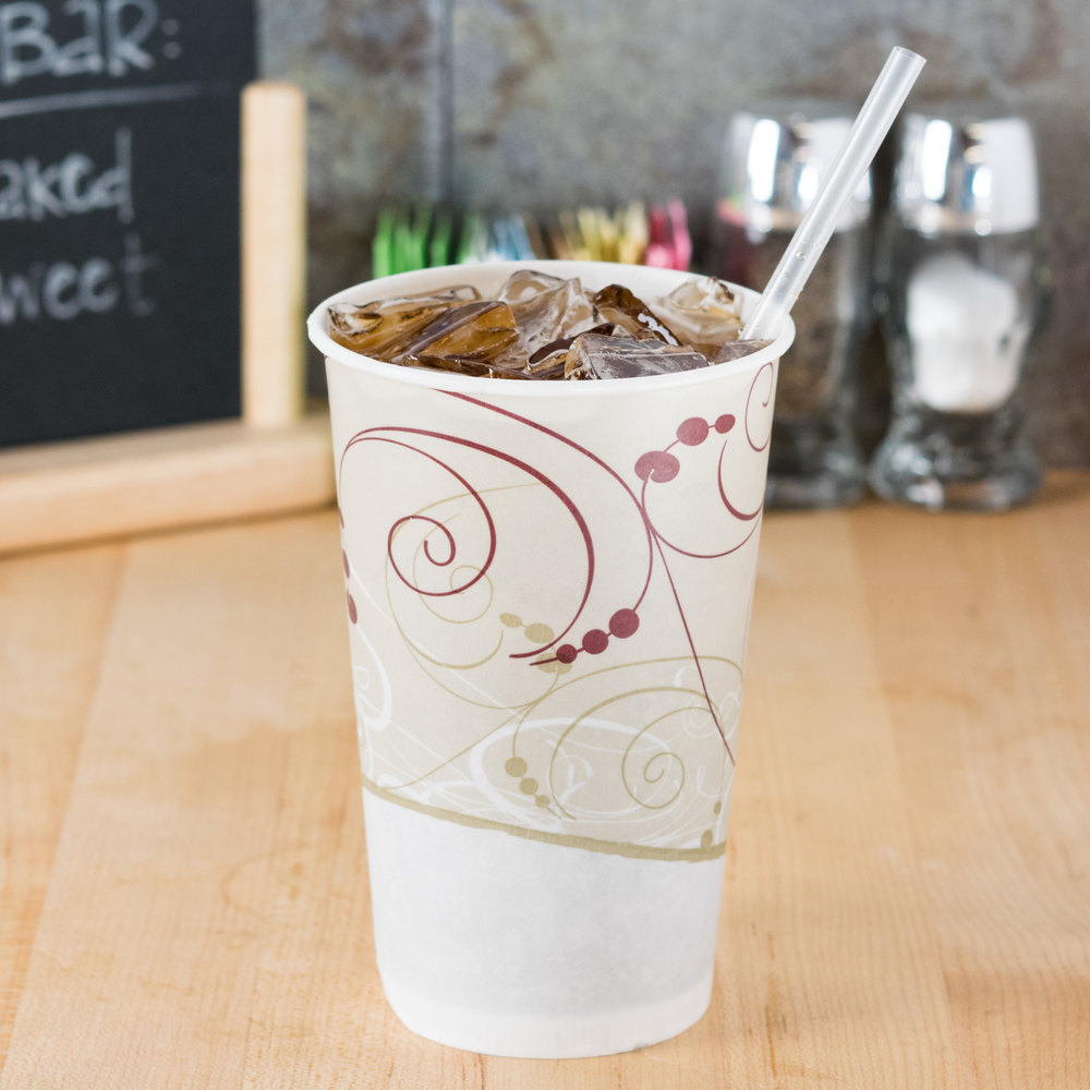 Dart Solo RW16-J8000 Symphony 16-18 oz. Wax Treated Paper Cold Cup - 1000/Case