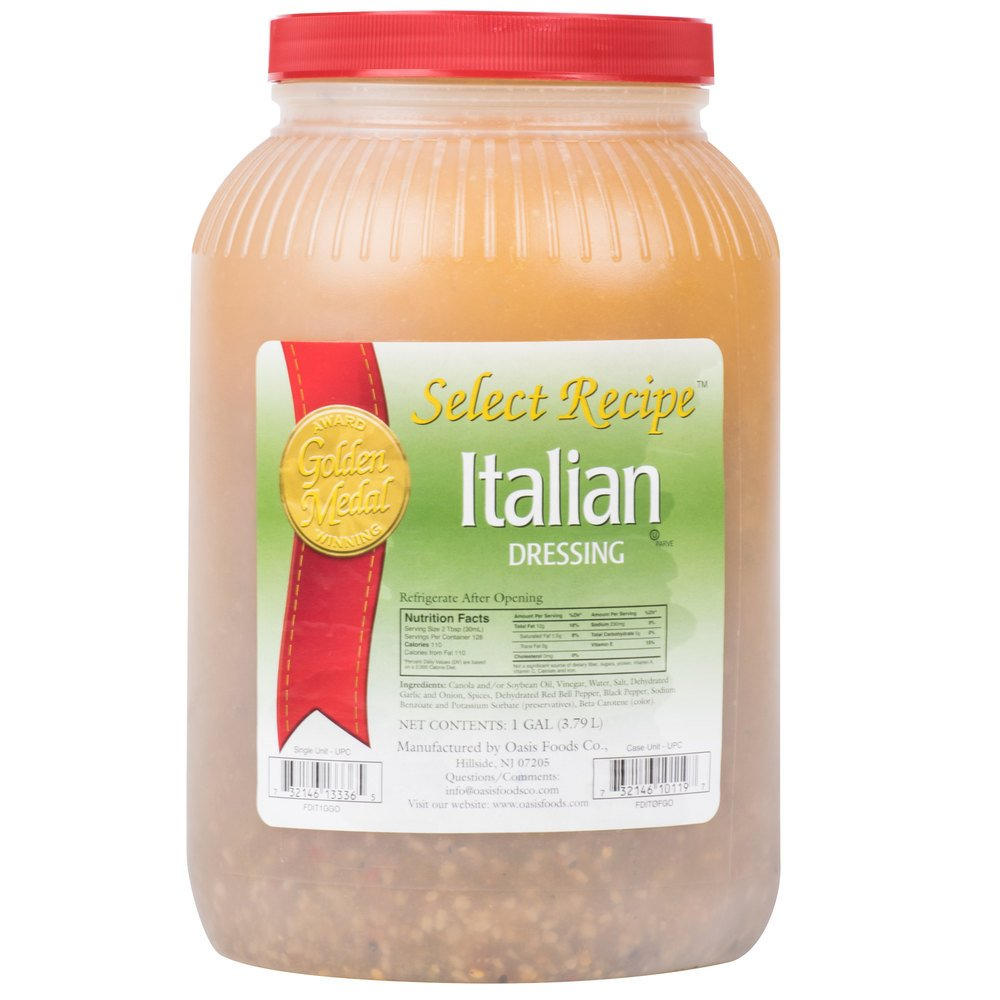 Traditional Italian Dressing - (4) 1 Gallon Containers / Case