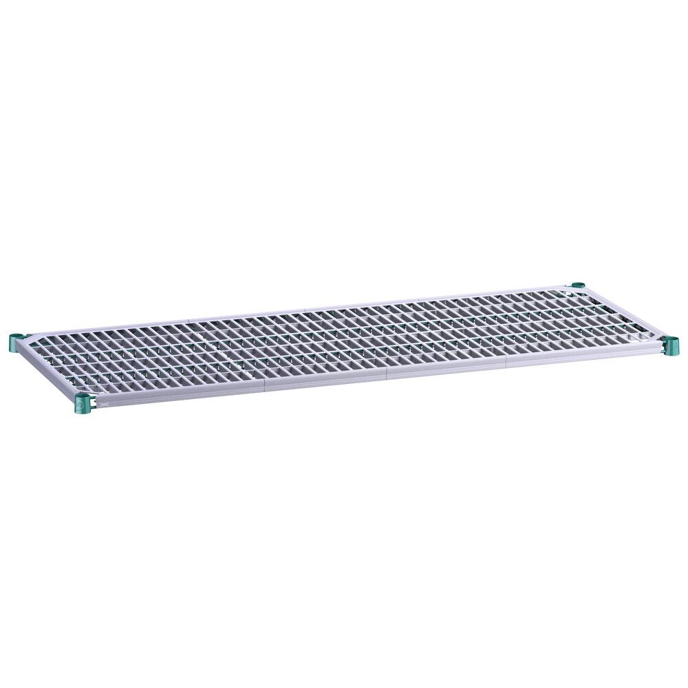 Regency 24 inch x 60 inch Green Epoxy Shelf with Polymer Drop Mat