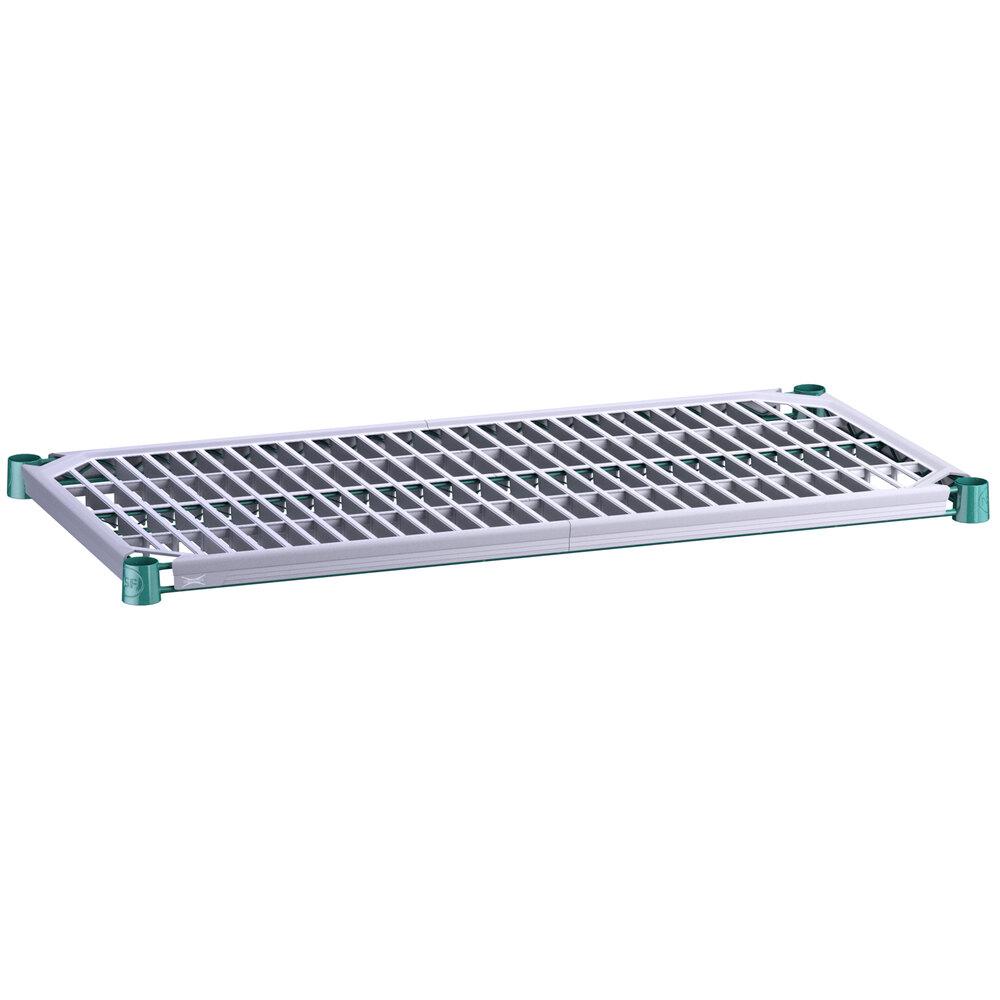 Regency 18 inch x 36 inch Green Epoxy Shelf with Polymer Drop Mat