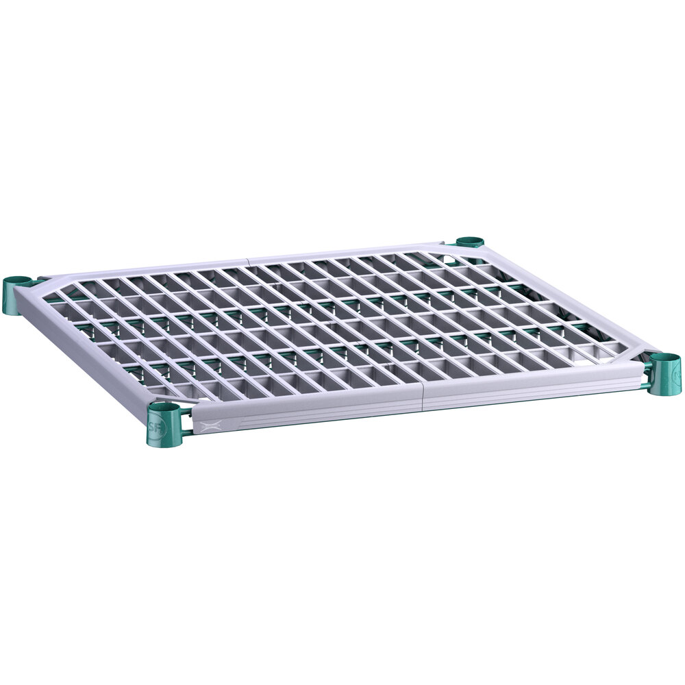 Regency 24 inch x 24 inch Green Epoxy Shelf with Polymer Drop Mat