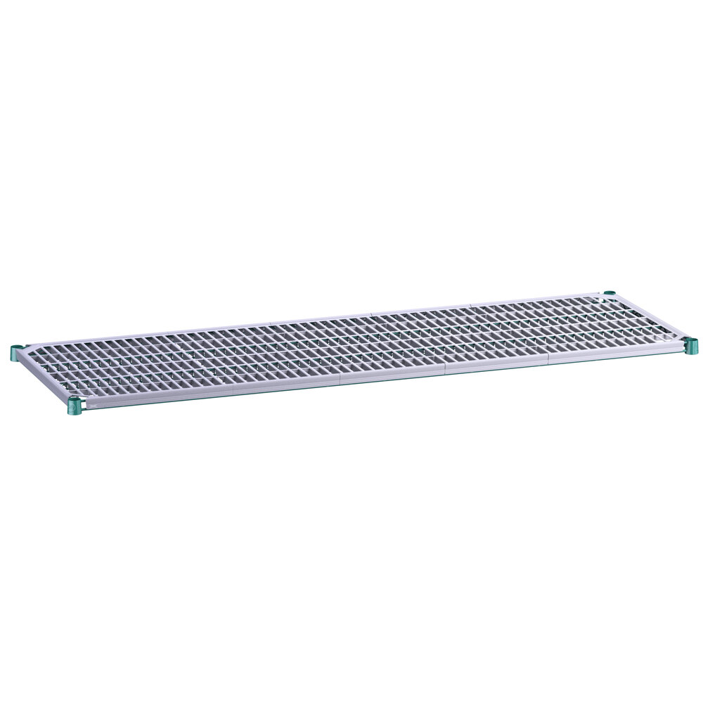 Regency 24 inch x 72 inch Green Epoxy Shelf with Polymer Drop Mat